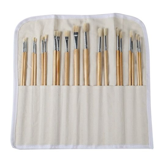 Long Handle White Bristle Paintbrush Set By Artist S Loft