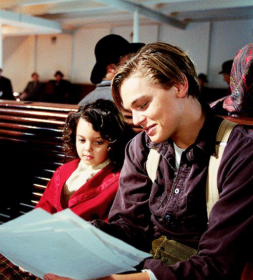leonardo dicaprio titanic jack dawson that little girl looks like a doll just saying