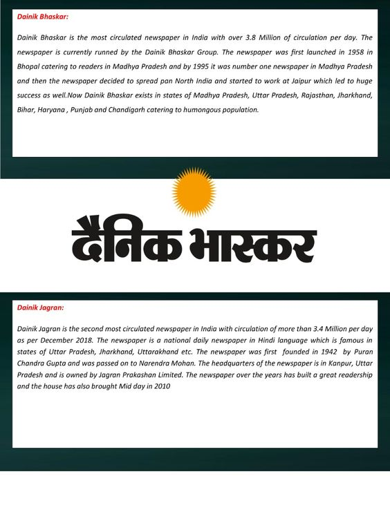 Which are the Top newspapers in North India