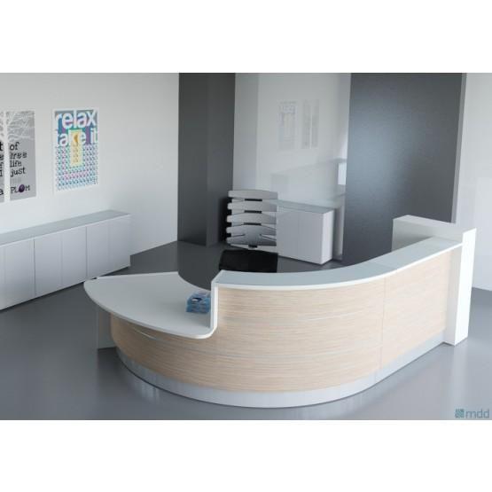 Valde J Shaped Reception Desk W Counter Top Curved Reception Desk Office Furniture Modern Wood Reception Desk