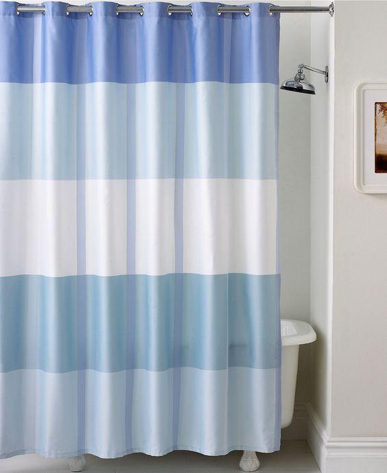 Martha stewart collection encore stripe shower curtain shower curtains accessories bed Martha stewart bathroom collection