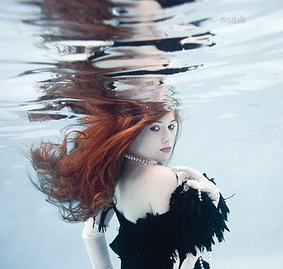 Who says you can't wear feathers underwater?