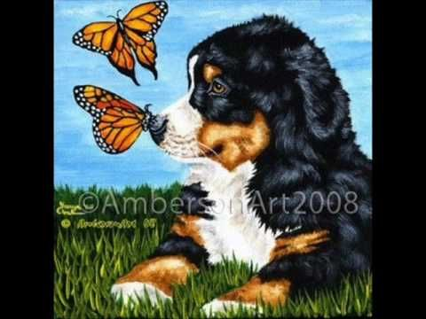 Dog & Butterfly. Written by Ann Wilson on a spring day about her English sheepdog, Moffa.