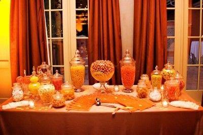 Orange wedding candy