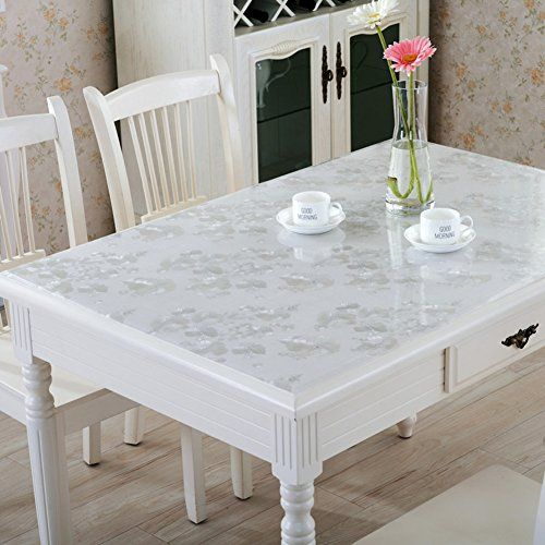 Pvc Tablecloth Waterproof And Anti Transparent Transparent Table Cloth Plastic Table Mats Free Of Tea Mats K 90x100cm 35 Table Cloth Oil Cloth Design Your Home