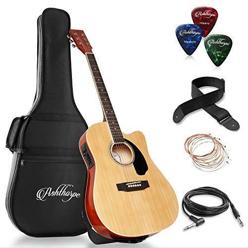 Ashthorpe Full Size Cutaway Thinline Acoustic Electric Gu Https Www Amazon Com Dp B07fdml3ff Ref Cm Sw R Pi Best Acoustic Guitar Acoustic Electric Guitar