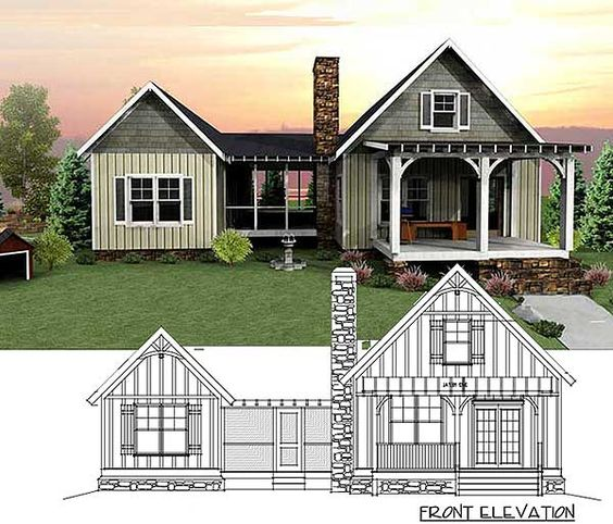 Plan 92318mx 3 bedroom dog trot house plan house plans Dogtrot house plan