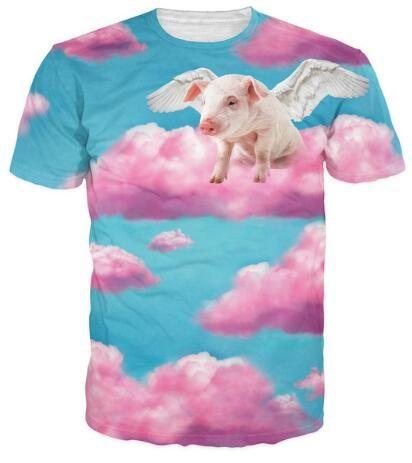 remera de cerdo volador ! <3 <3 <3