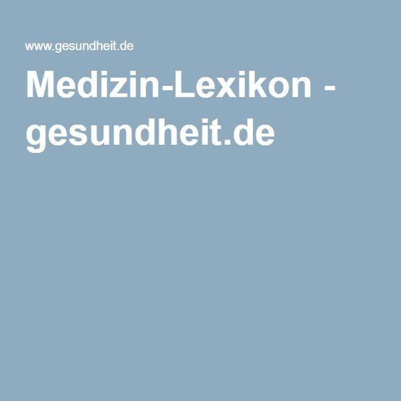 Medizin-Lexikon - gesundheit.de