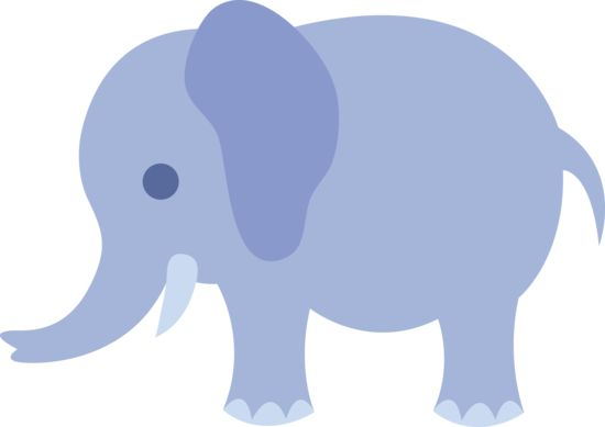 Little Blue Elephant - Free Clip Art | Paper Craft ...