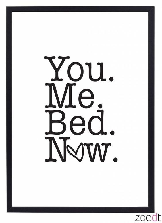 Zoedt Poster You me bed now - Zoedt