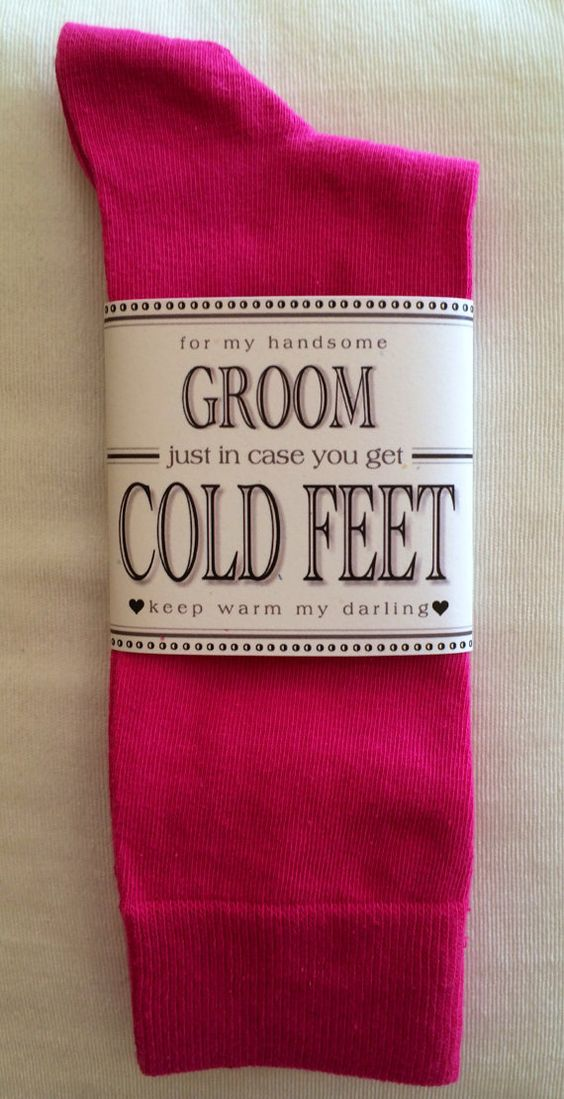 Fabulous Groom's Wedding Gift From Bride Hot Pink by ColdFeetSocks, $7.99