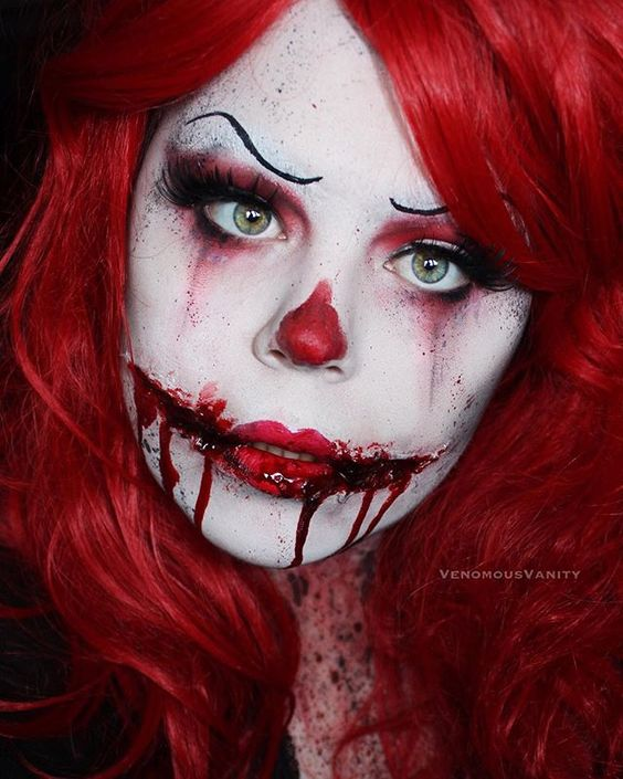 Monochromatic Killer Clown  Product details in previous posts. #venomousvanity