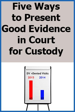 If you are fighting for custody, the day will come when you will have your final hearing. To truly win custody and prove you are the better parent, you will need to present lots of convincing evidence in court. Sadly, your personal testimony weighs very little with the judge. So what evidence do you need, and how should you show it in court? Click Pic to Read More... (from DaddyGotCustody.com)