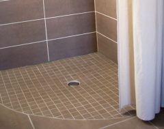 La douche italienne quart de rond et galbobain pinterest - Rideau giet douche italienne ...