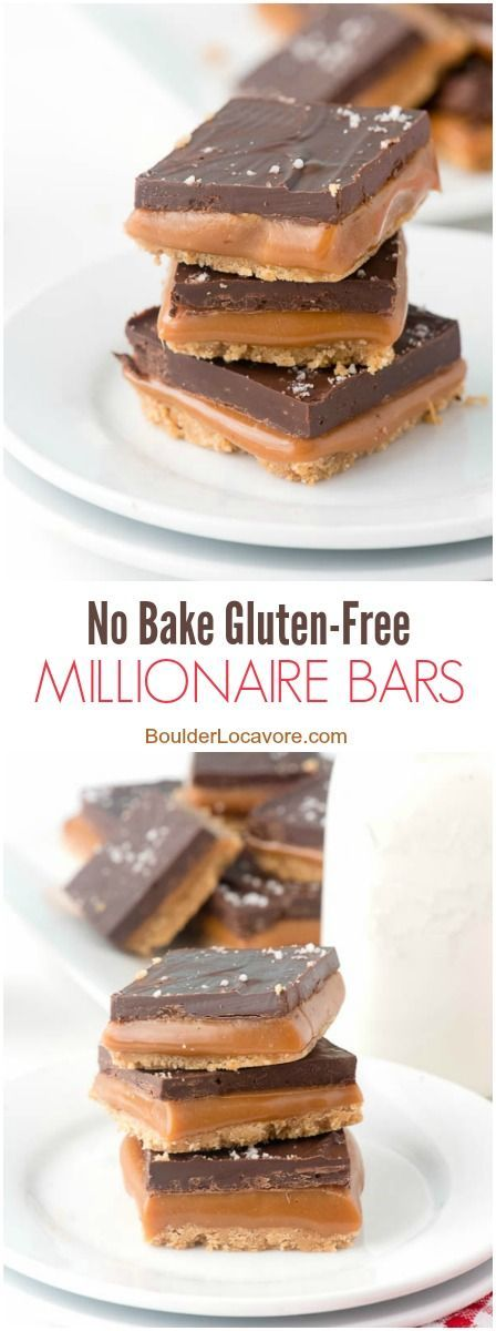 Bake Gluten-Free Millionaire Bars. Gluten-Free Shortbread cookie layer ...