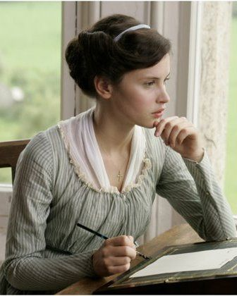 Northanger Abbey, Catherine Morland writing a letter  #FavoriteAustenMoment #DearMrKnightley: