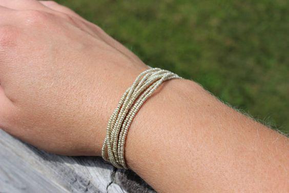 Silver Strands Bracelet by BlueMountainDesign on Etsy