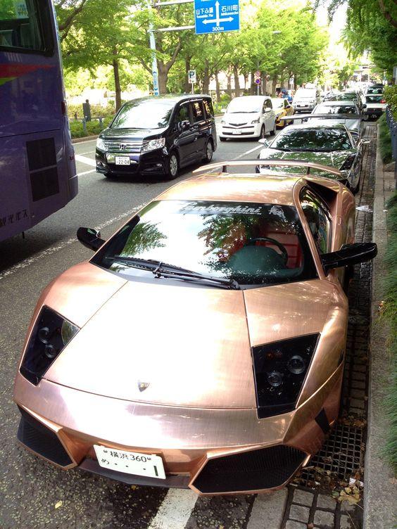 Lamborghini copper in Yamashita park