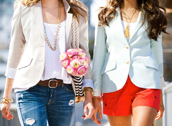 two penny blue {i love using blazers like these to dress up or down any outfit!}