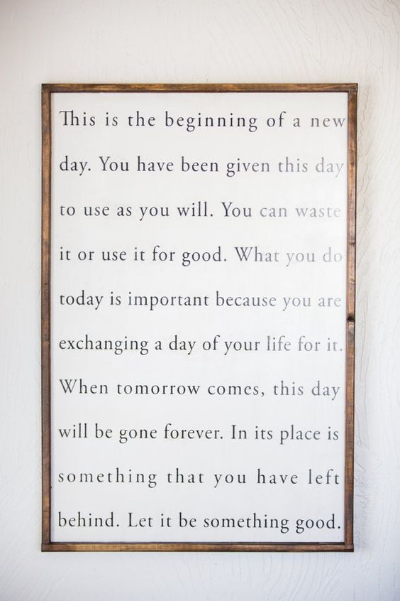 This Is the Beginning of a New Day  Wood Sign by Sophistiqa: