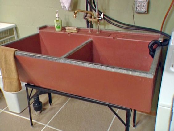Paint and seal a vintage concrete laundry sink Laundry life ...