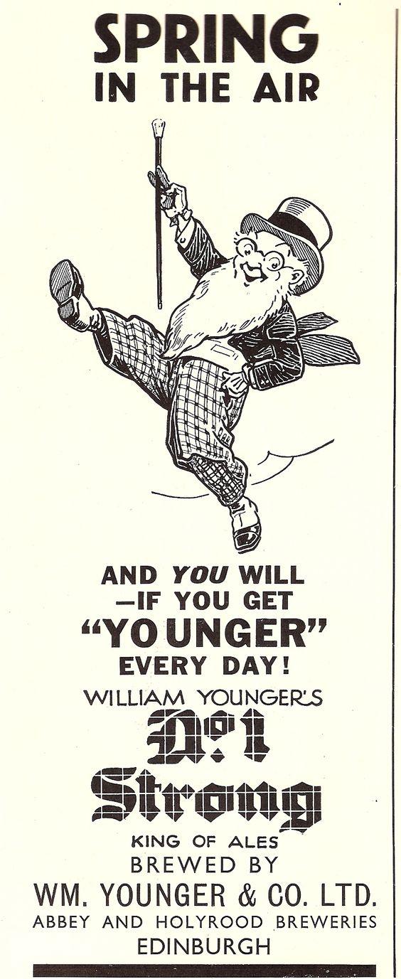William Younger's, Edinburgh - advert, 1930
