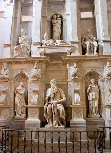 michelangelos moses, st peters in chains, rome church picture