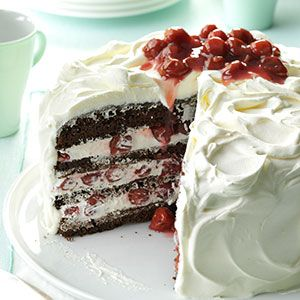 German Black Forest Cake Recipe from Taste of Home -- shared by Stephanie Travis of Fallon, Nevada