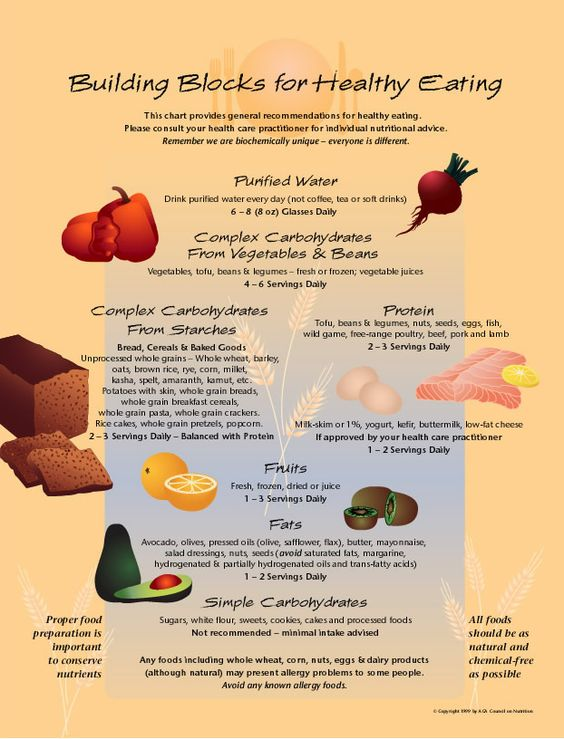 From the ACA Council on Nutrition - Building Blocks for Healthy Eating