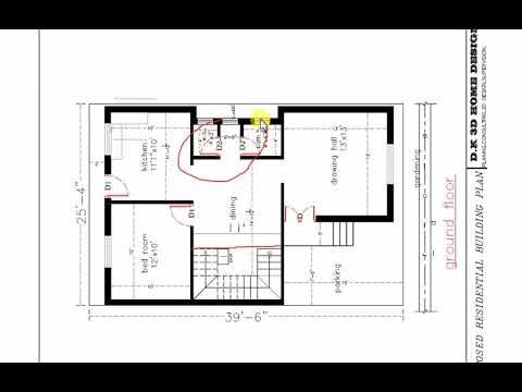 25x40 Ft Duplex House Plan House Plans Duplex House Plans Duplex House