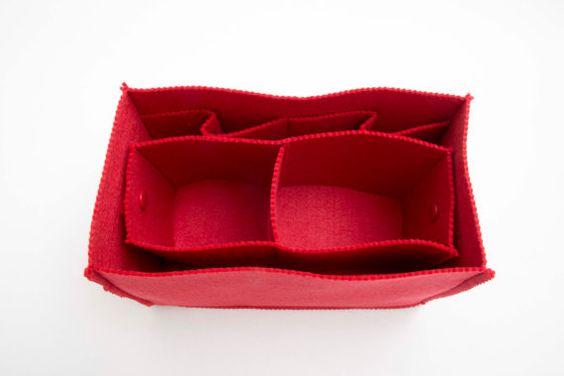 Bolso Organizador bolsa inserto con Ipad lugar, talladora del bolso, fieltro - COLOR opción disponibles