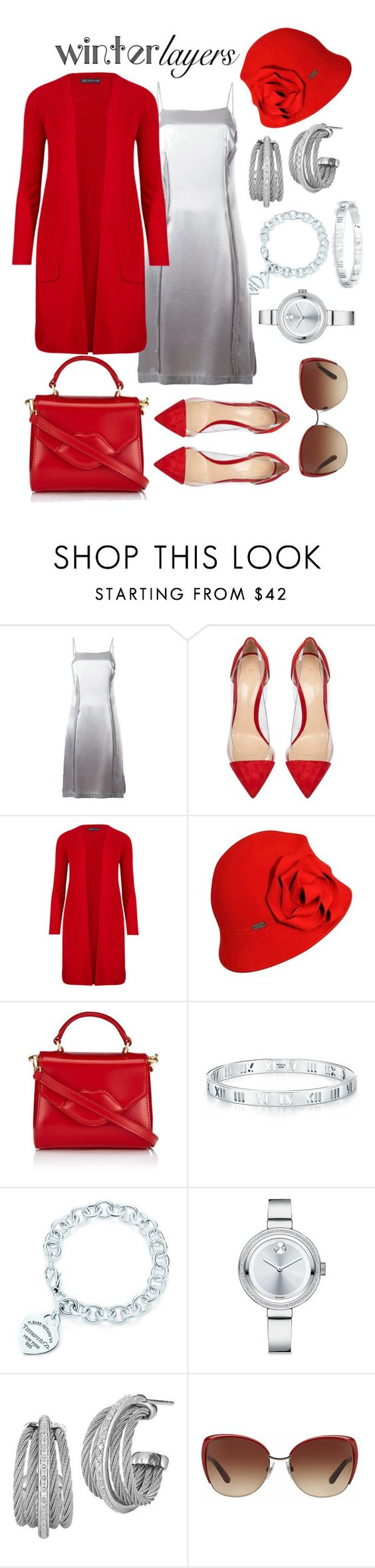 """""""Winter Layers: Slip Dress"""" by tweedleduh ❤ liked on Polyvore featuring moda, Maison Margiela, Gianvito Rossi, M&S Collection, Betmar, Lulu Guinness, Tiffany & Co., Movado, Charriol y Dolce&Gabbana"""
