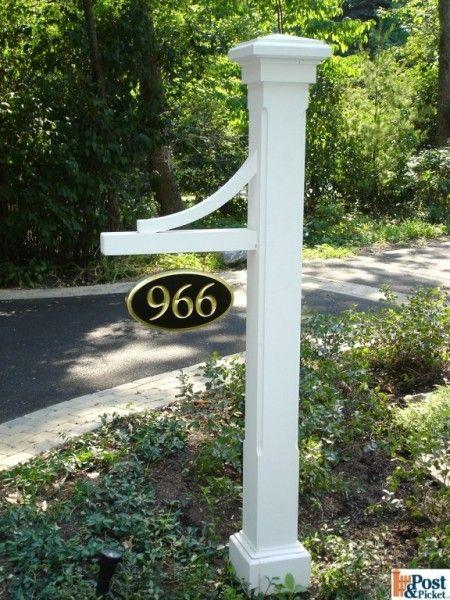 Address Post Yard Stuff Pinterest Decks House And