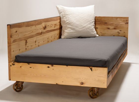 Day Bed For Twin Mattress From Reclaimed White Pine And