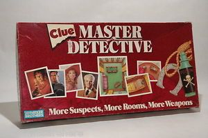 Clue Master Detective Game Parker Brothers 1988