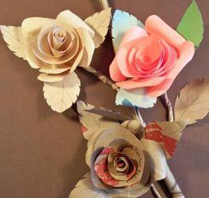 paper roses.