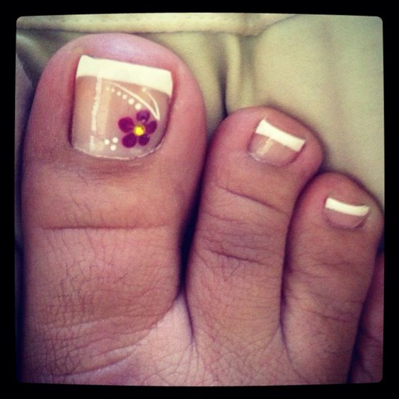 Spring time pedi and French tip hands :)