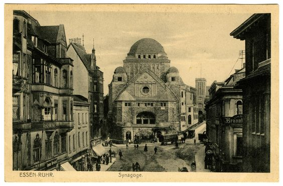 My grandmothers synagogue - Neue Synagoge (New Synagogue) in Essen, Germany. Now the Alte Synagoge (Old Synagogue). I think this is c. 1929