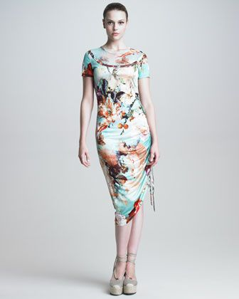 Short-Sleeve Floral-Print Dress by Jean Paul Gaultier at Bergdorf Goodman.
