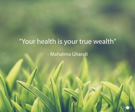 Some thoughts on health is wealth
