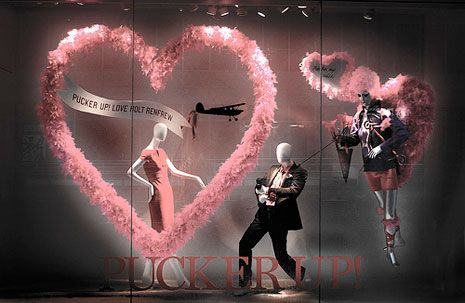 valentine window displays Jaime Bonito escaparate muy iluminado