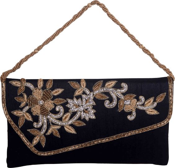 This is a very beautiful clutch. This clutch comes with stunning zardosi work which is unique and different. A very beautiful design and a must have in your collection.
