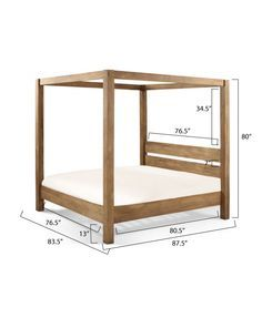 ana white build a minimalist rustic king canopy bed free and easy diy project - Diy Canopy Bed Frame