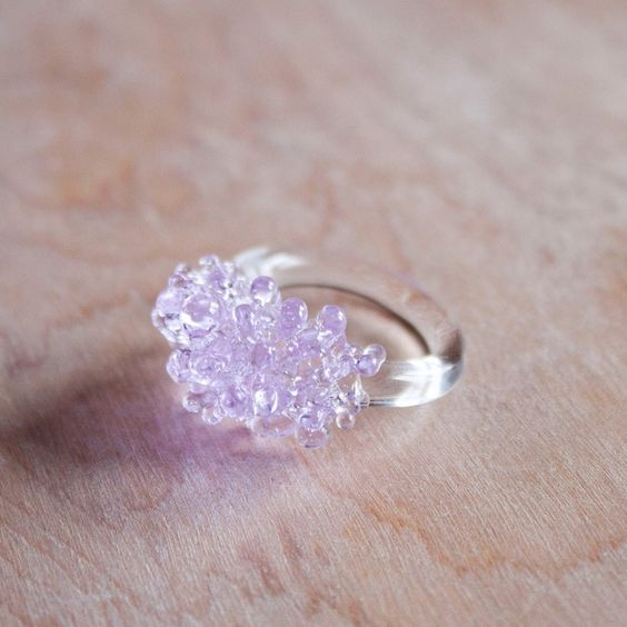 Lilac Cluster Ring       #HelloColor