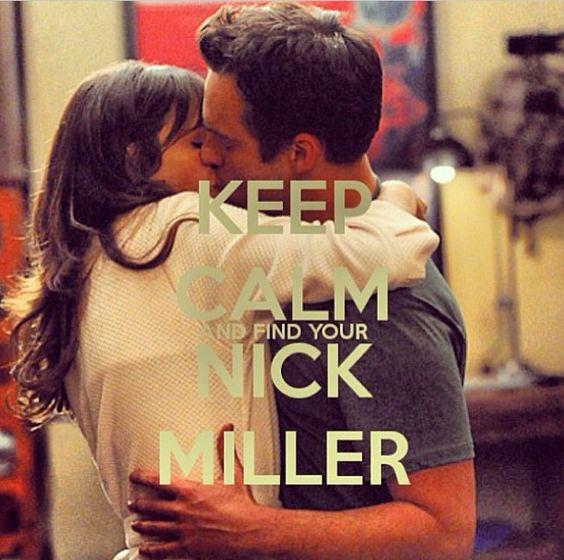 Keep calm. Nick Miller. New Girl. Cute. Love stories :)