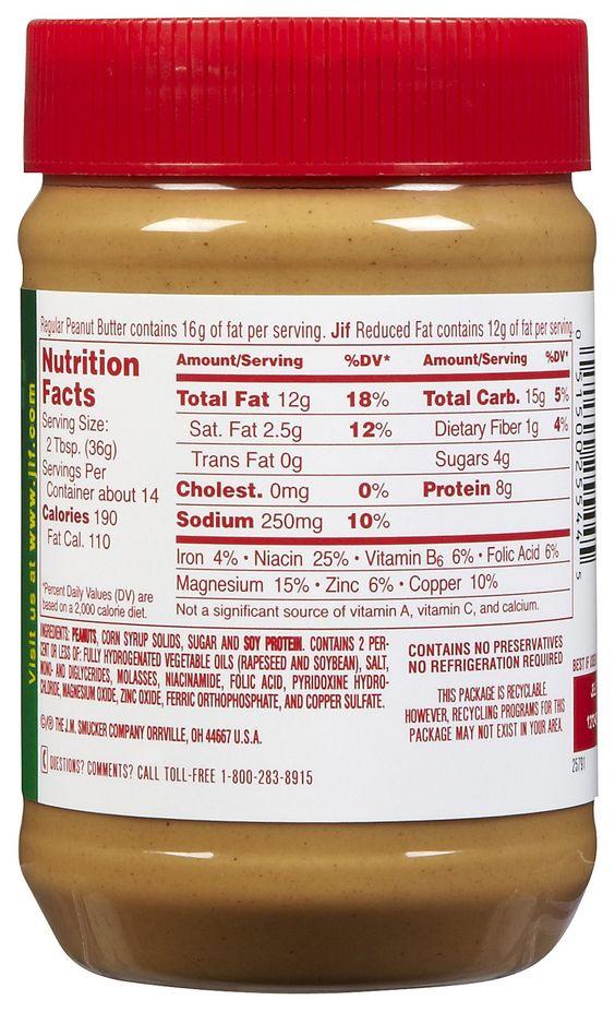 Jiff Reduced Fat Peanut Butter 58