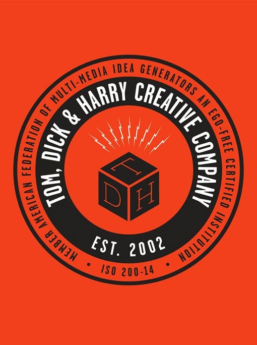 Cool branding for Tom, Dick, and Harry Creative Co.