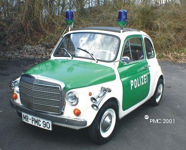 Fiat 500 Polizei