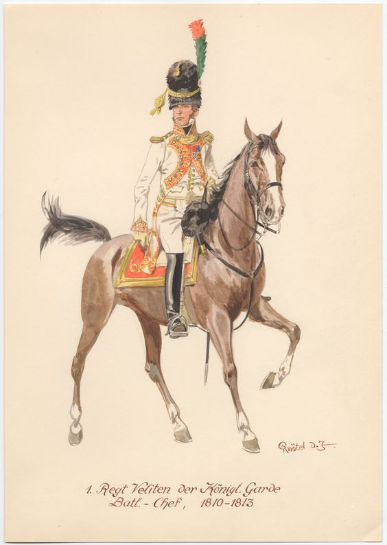 Westphalia; 1st Velites Regt. of the King's Guard. Battalion Chef, 1810-13